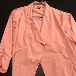 Stretch blazer with zipper embellishments